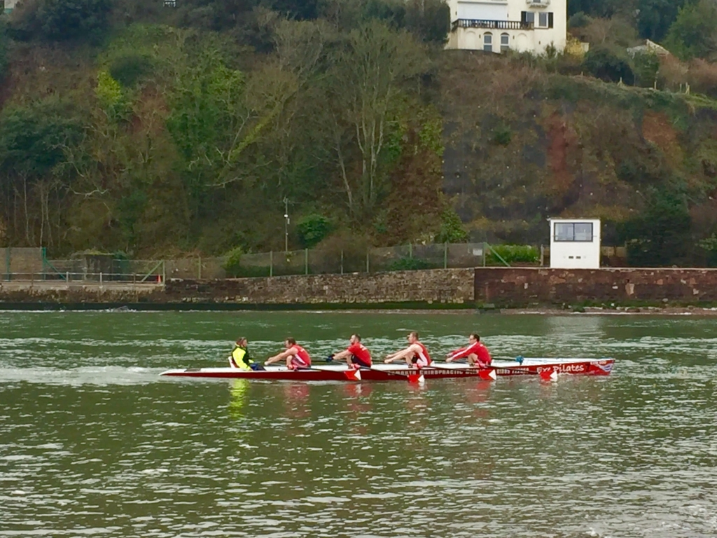 Exmouth Rowing Club Mens A in action